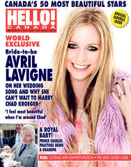 hello! canada: avril lavigne tops the most beautiful list